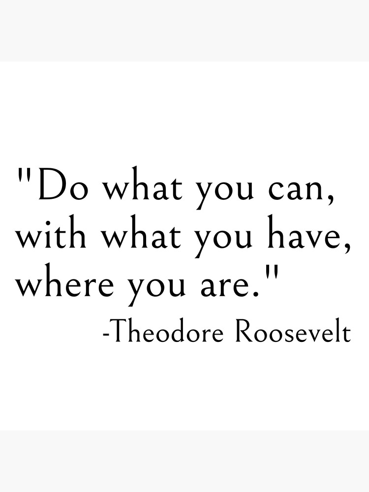 Do what you can with what you have where you are, Theodore roosevelt quote by ds-4