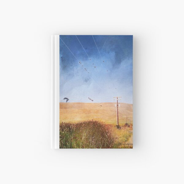 Birds on a wire Hardcover Journal