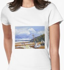 Beach Boat and Fishing Boats on the Gippsland Lake T-Shirt