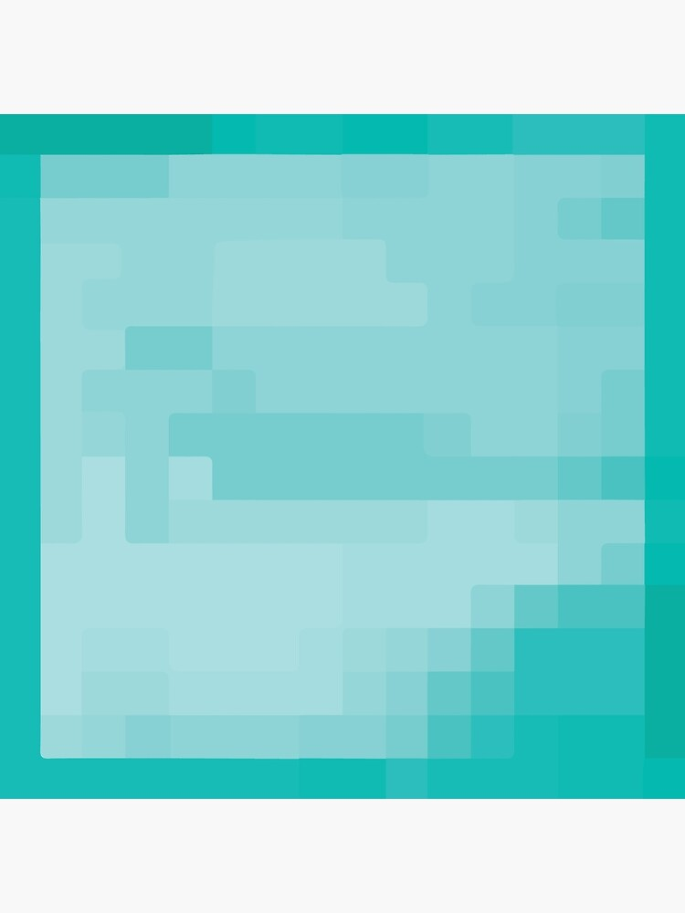 MINECRAFT DIAMOND BLOCK Art Board Print by bluewaydesign Redbubble