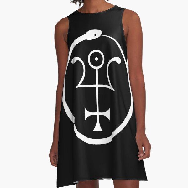 The Invisible Basilica Of Sabazius - Ordo Templi Orientis Clipart A-Line Dress
