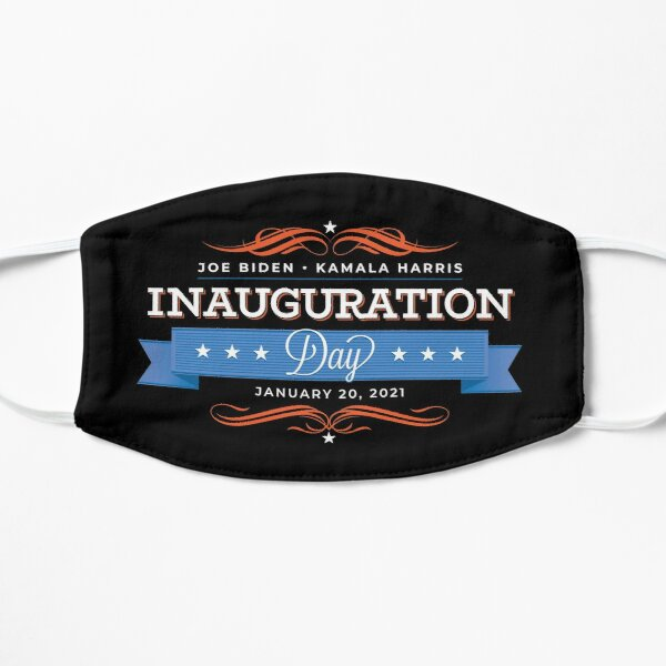 Inauguration Day 2021 Joe Biden Kamala Harris Flat Mask