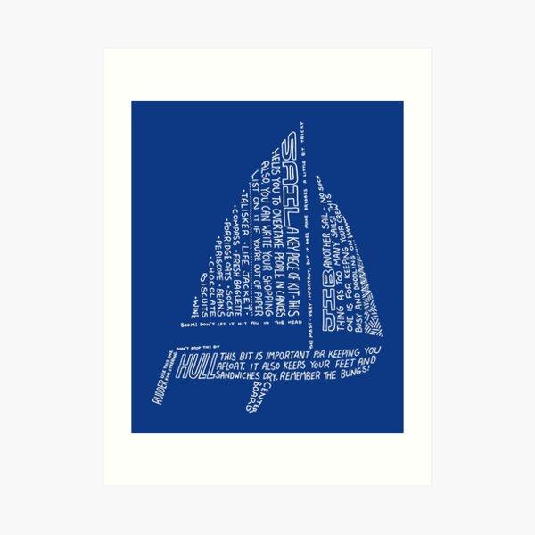 Sailing Tips Art Print