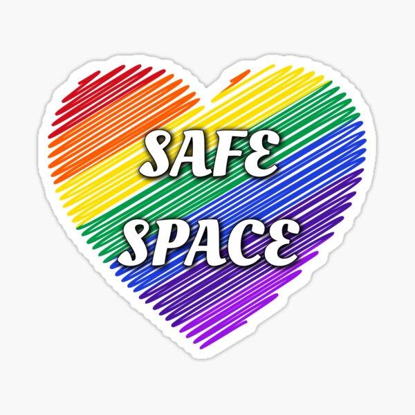 Safe Space LGBTQ+ heart Sticker