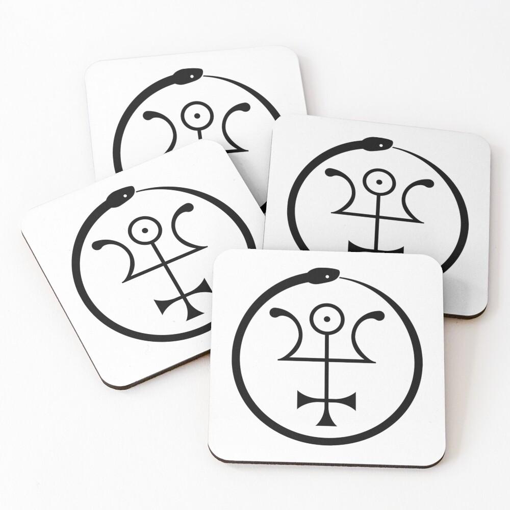 The Invisible Basilica Of Sabazius - Ordo Templi Orientis Clipart Coasters (Set of 4)