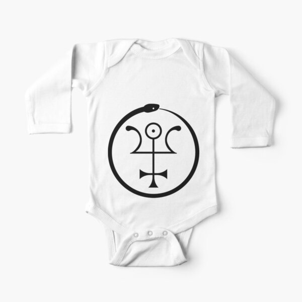 The Invisible Basilica Of Sabazius - Ordo Templi Orientis Clipart Long Sleeve Baby One-Piece