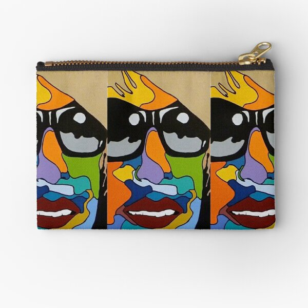 Model face with sunglasses Zipper Pouch