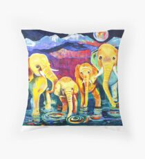 East Meets West Throw Pillow