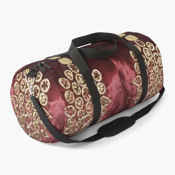 TRADITIONAL  PATERN WORK RED Duffle Bag