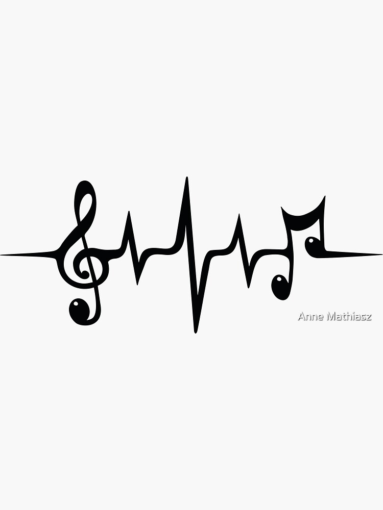 Music Pulse Heartbeat Notes Clef Frequency Wave Sound Festival  by boom-art