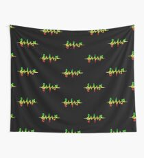 Music Pulse, Reggae, Sound Wave, Rastafarian, Jah, Jamaica, Rasta Wall Tapestry