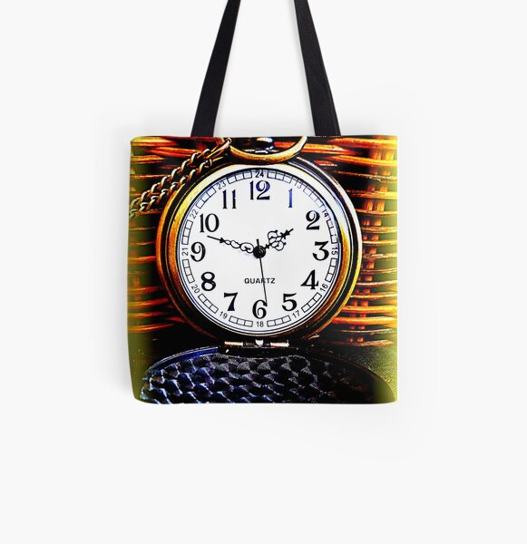 Timepiece All Over Print Tote Bag