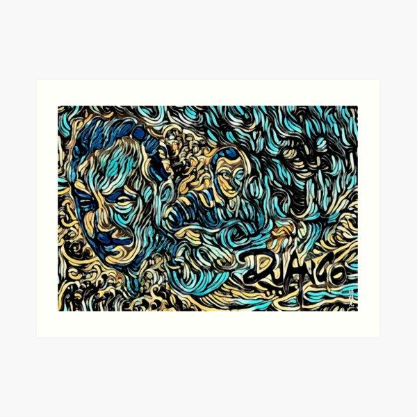 Django : The Great Wave Art Print