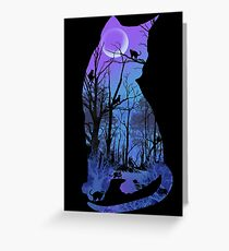 CATMOON CARD Greeting Card