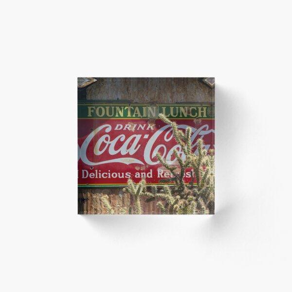 Coca-Cola Cactus in Nevada Acrylic Block