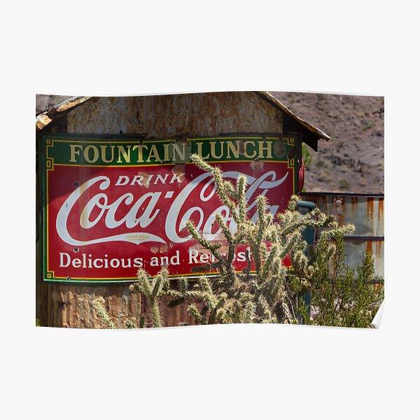 Coca-Cola Cactus in Nevada Poster