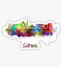 Siena skyline in watercolor Sticker