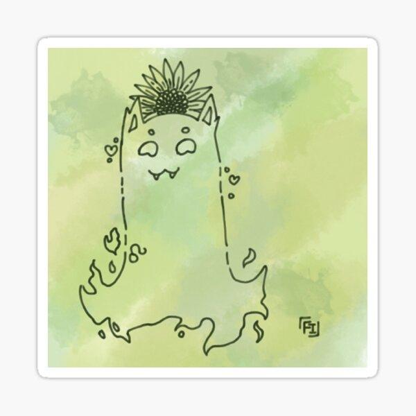 Leo ghost Sticker