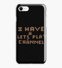 Minecraft Lets Plays iPhone Case/Skin