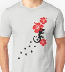 Gecko, lizard, Hawaii, aloha, surf, beach, summer, party, water sports Unisex T-Shirt
