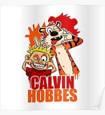 Calvin and Hobbes Time Poster