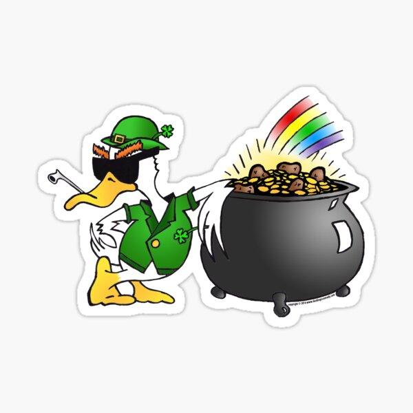 St. Patty's Day Duck Sticker