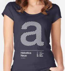a .... Helvetica Neue Women's Fitted Scoop T-Shirt