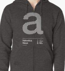 a .... Helvetica Neue Zipped Hoodie