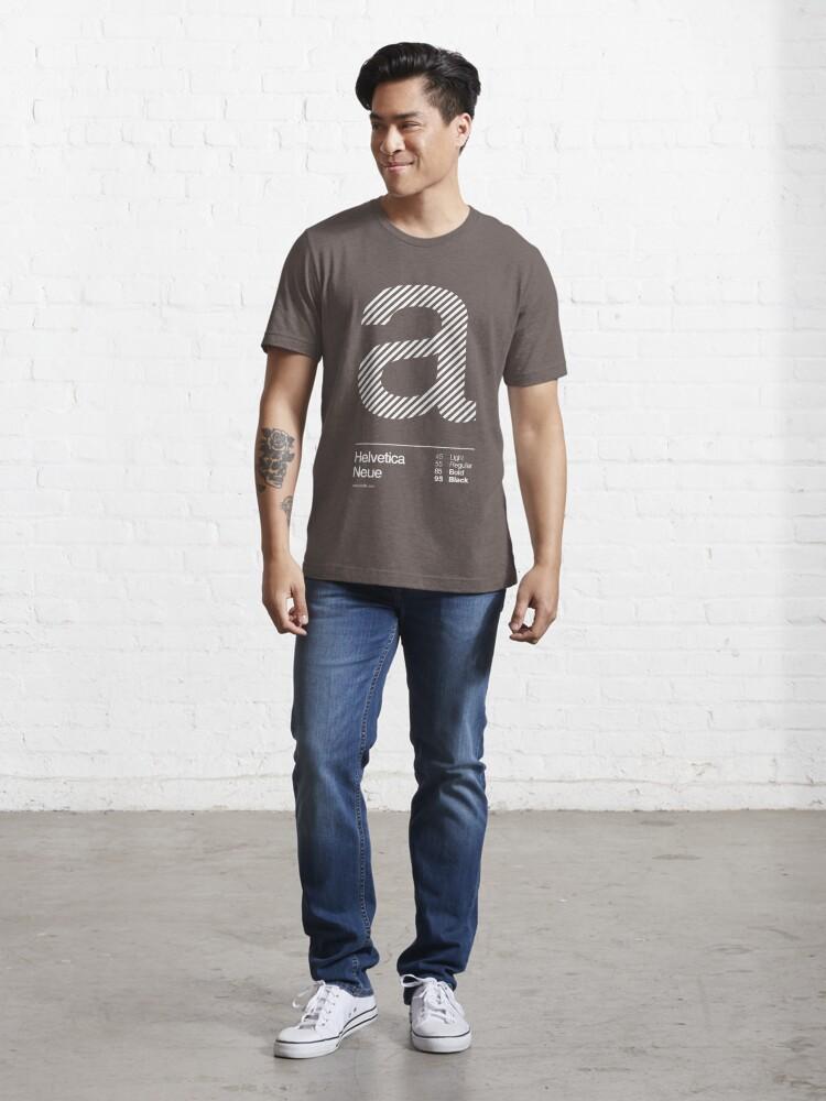 Alternate view of a .... Helvetica Neue Essential T-Shirt