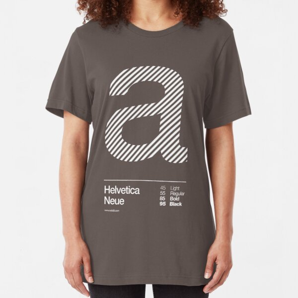 a .... Helvetica Neue Slim Fit T-Shirt