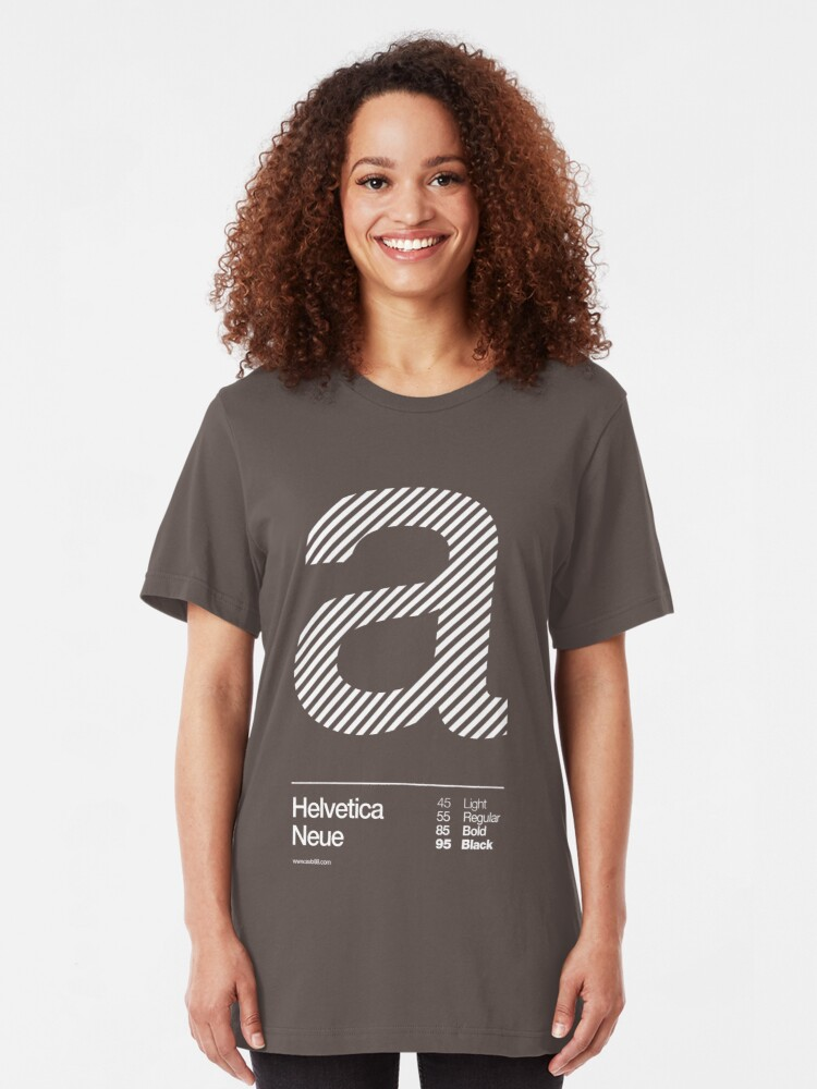 Alternate view of a .... Helvetica Neue Slim Fit T-Shirt