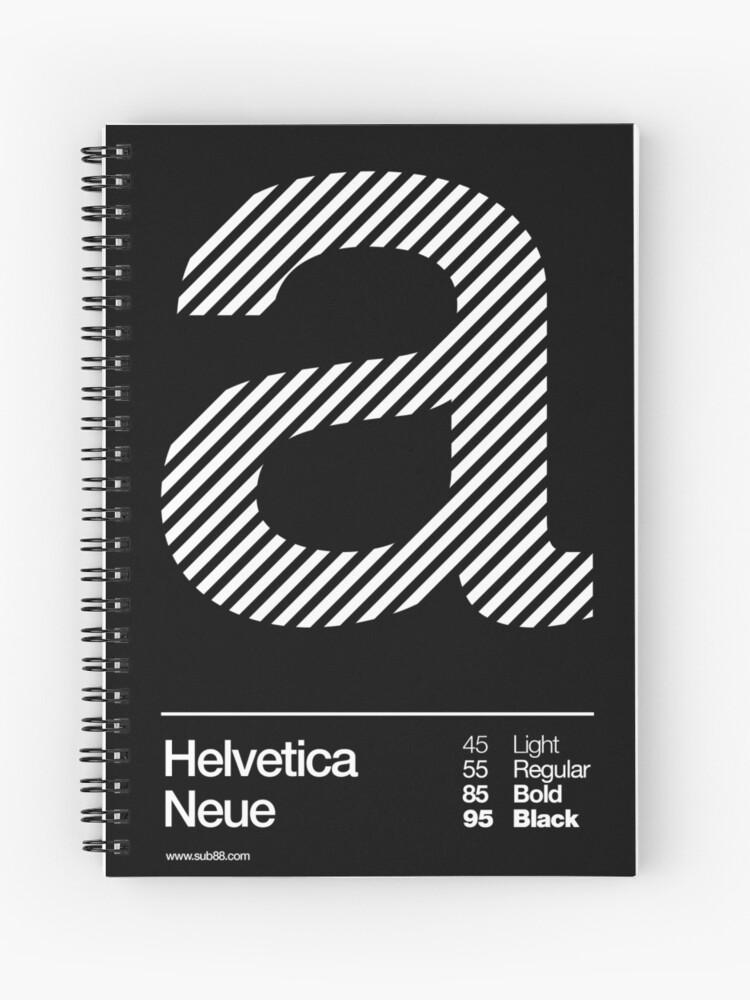 a      Helvetica Neue   Spiral Notebook