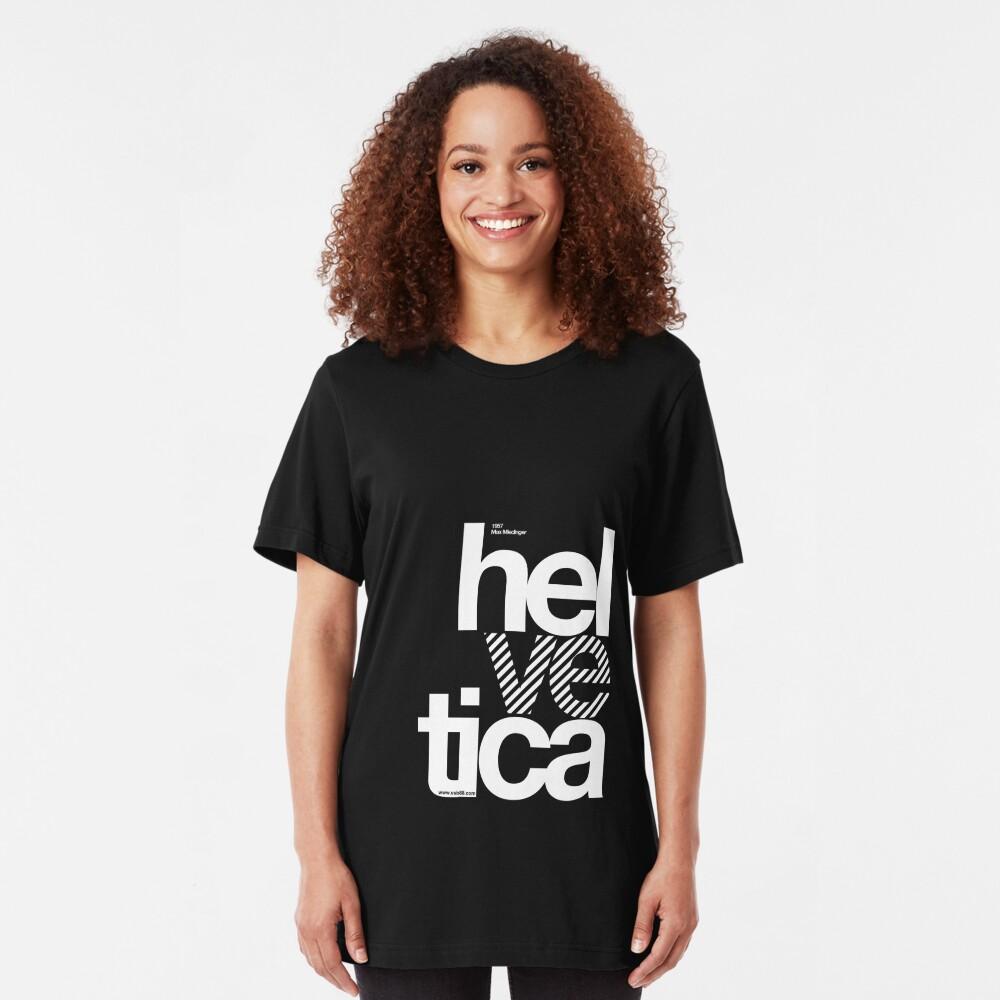 Hel ve tica .... Slim Fit T-Shirt