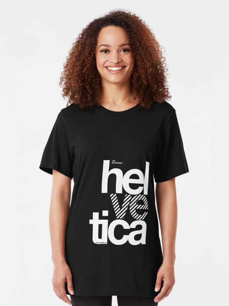 Alternate view of Hel ve tica .... Slim Fit T-Shirt