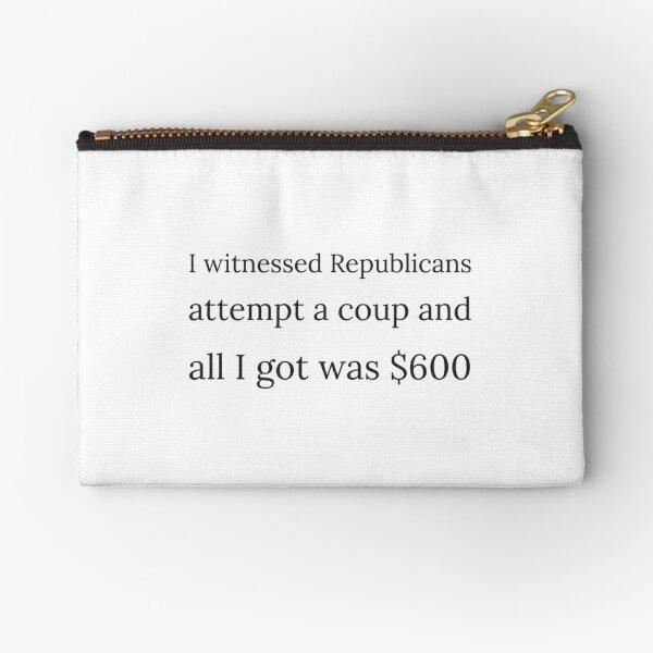 Coup 2021, Anti Republican, Anti Trump Zipper Pouch