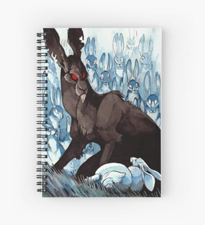 The Black Rabbit Spiral Notebook