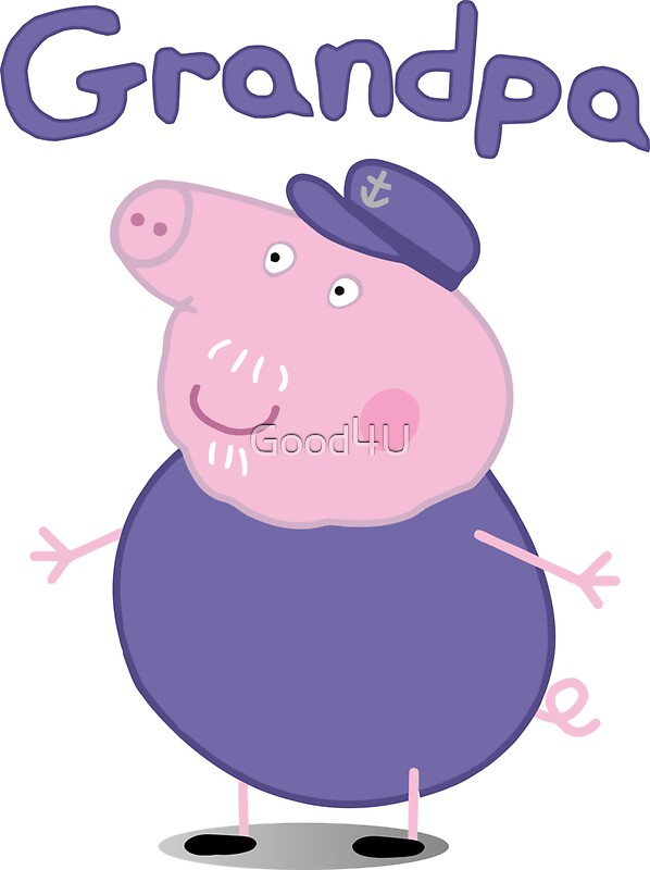 Quot Grandpa Pig Quot Stickers By Good4u Redbubble