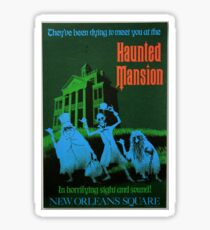 Magic Kingdom Attraction Poster- Haunted Mansion Sticker