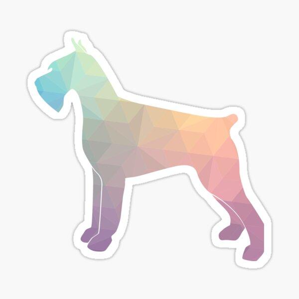 Giant Schnauzer Dog Geometric Pattern Silhouette Pastel Sticker