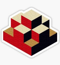 Isometric abstract geometric Sticker