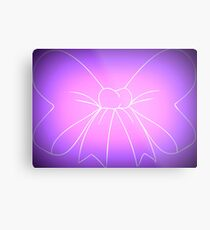 Pink Purple Fade Bow Metal Print