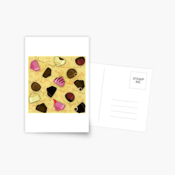 Sweet Valentine - Valentine's Day Candy Pattern Postcard