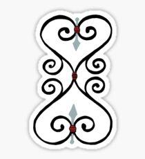 Dual Hearts Swirls Sticker