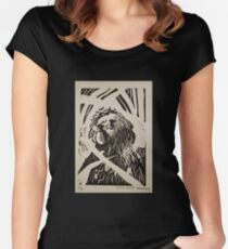 Rooster Print Women's Fitted Scoop T-Shirt