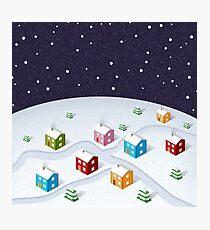 Isometric City Christmas Photographic Print