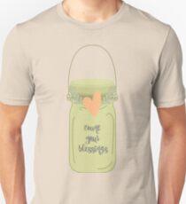 Count Your Blessings Mason Jar Unisex T-Shirt