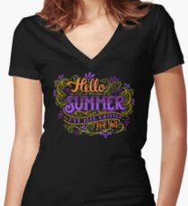 Hello summer. I have been waiting for you.  Women's Fitted V-Neck T-Shirt