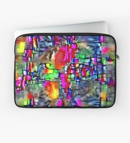 Artificial neural style Cubism mirror cat Laptop Sleeve