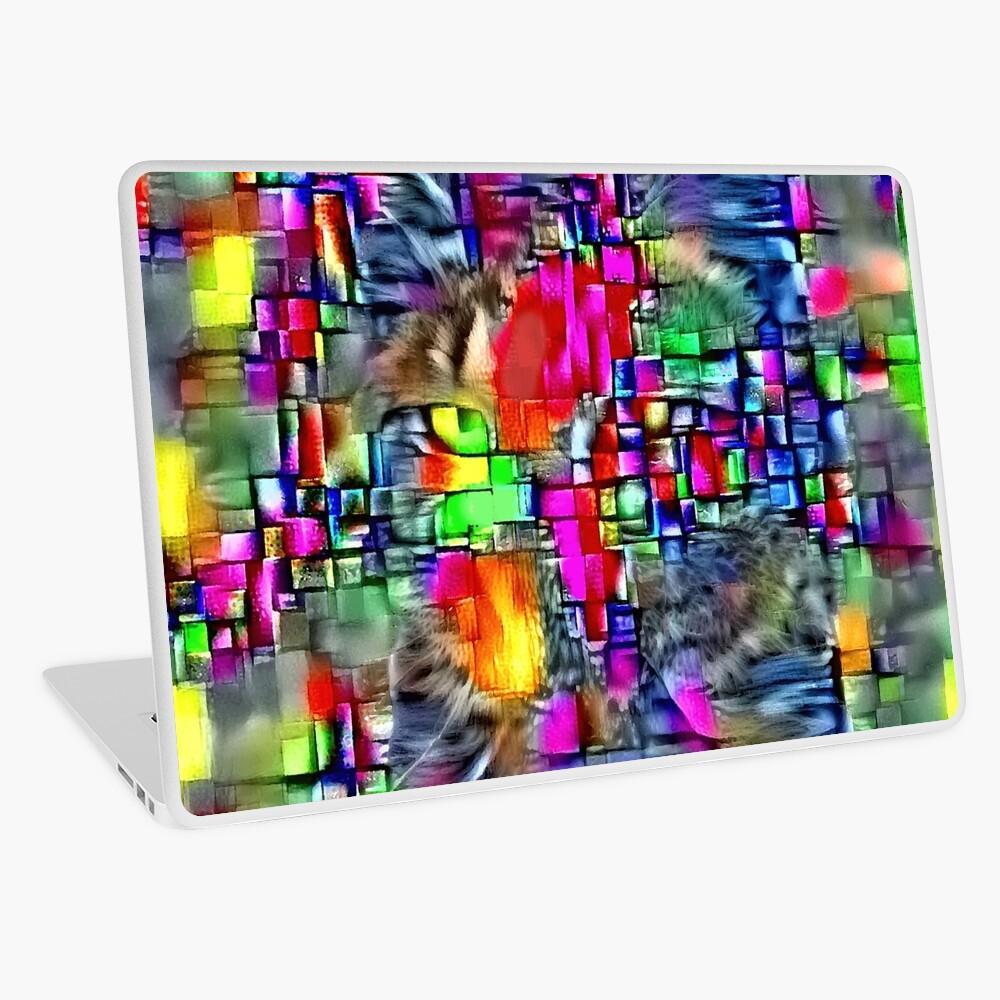 Artificial neural style Cubism mirror cat Laptop Skin