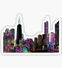 Chicago graffiti Sticker